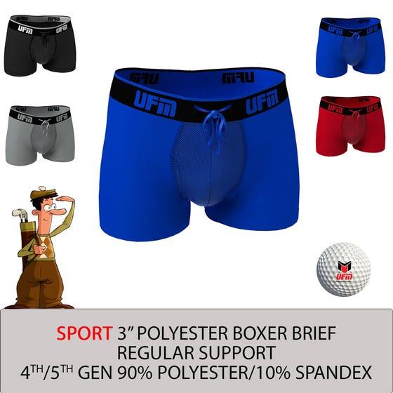 Parent UFM Underwear for Men Sport Polyester 3 inch Trunk Multi 800