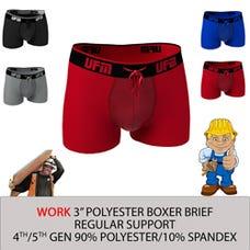 Parent UFM Underwear for Men Work Polyester 3 inch Trunk Multi 250 Hidden