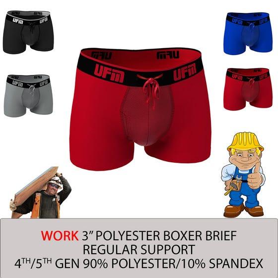 Parent UFM Underwear for Men Work Polyester 3 inch Trunk Multi 800