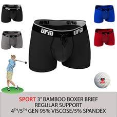 Parent UFM Underwear for Men Sport Bamboo 3 inch Trunk Multi 250 Hidden