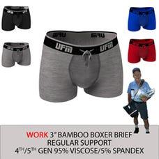 Parent UFM Underwear for Men Work Bamboo 3 inch Trunk Multi 250 Hidden