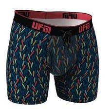 Parent UFM Underwear for Men Everyday Bamboo 6 inch Boxer Brief Confetti 250