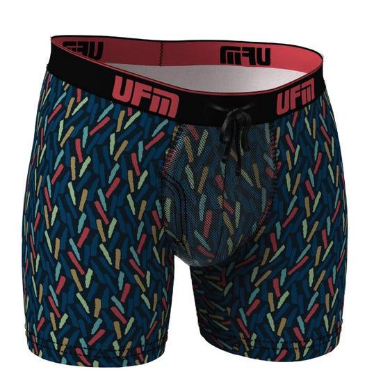 Parent UFM Underwear for Men Sport Bamboo 6 inch Boxer Brief Confetti 800