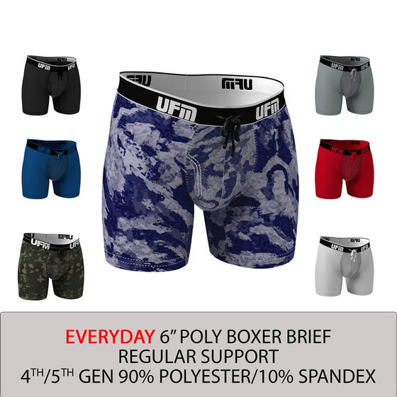Parent UFM Underwear for Men Everyday Polyester 6 inch Boxer Brief Multi 800