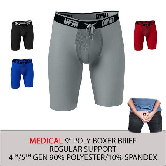 Parent UFM Underwear for Men Medical Polyester 9 inch Regular Boxer Brief Multi 800