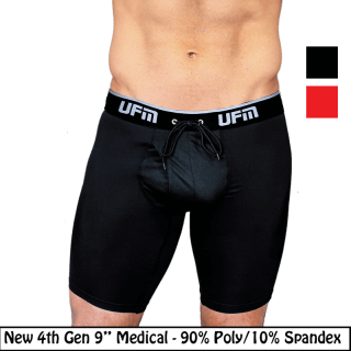 "Polyester Boxer Briefs 9"" 4th Gen Medical Underwear for Men"