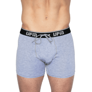 "NEW UFM 4.0 Adjustable Support Boxer Brief 6"" Viscose (Bamboo) Spandex Gray 44-46 (2X) - Env"