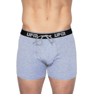 "NEW UFM 4.0 Adjustable Support Boxer Brief 6"" Viscose (Bamboo) Spandex Gray 48-50 (3X) - Env"