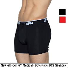 "Polyester Boxer Briefs 6"" 4th Gen Medical Underwear for Men"