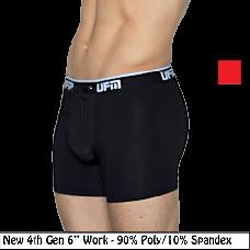 """Polyester Boxer Briefs 6"""" 4th Gen Work Underwear for Men"""
