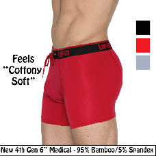 "Bamboo Boxer Briefs 6"" 4th Gen Medical Underwear for Men"