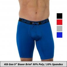 9 inch Polyester-Spandex Everyday Boxer Briefs REG Support (Gen 4) Underwear for Men