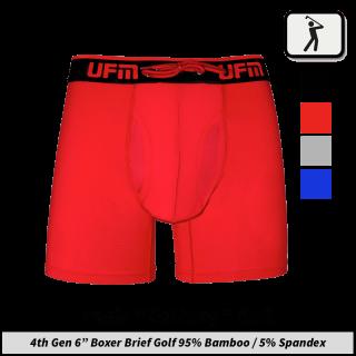 """Bamboo 6"""" Boxer Briefs 4th Gen Golf Underwear for Men"""