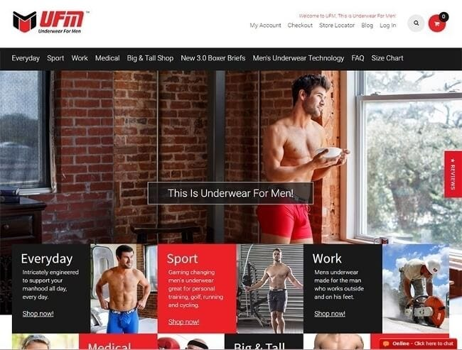 UFM Underwear launches new website Underwear for Men (UFM)
